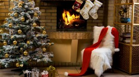 4K Christmas Fireplaces Photo Download