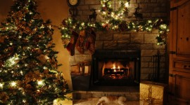 4K Christmas Fireplaces Wallpaper For Desktop