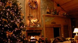 4K Christmas Fireplaces Wallpaper For PC