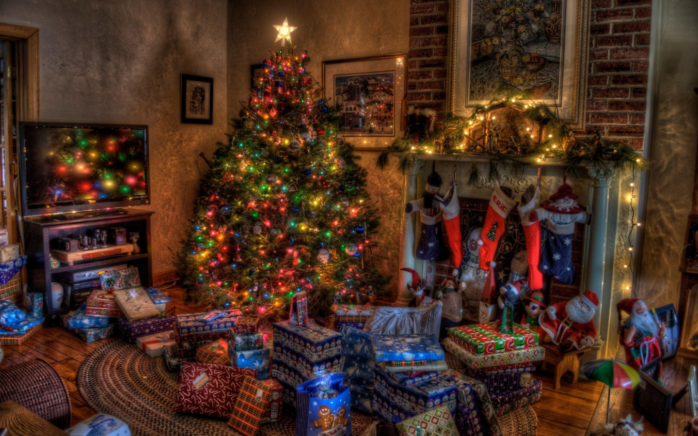 4K Christmas Fireplaces Wallpapers High Quality | Download ...
