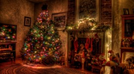 4K Christmas Fireplaces Wallpaper Full HD