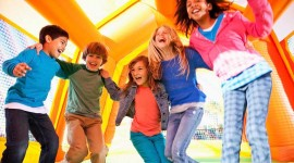 Bouncing Kids Photo