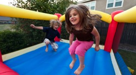Bouncing Kids Photo Free