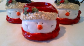 Candle Snowman Desktop Wallpaper