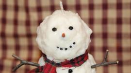 Candle Snowman Desktop Wallpaper For PC