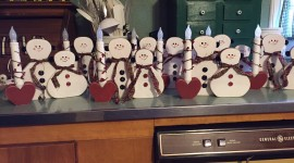Candle Snowman Photo