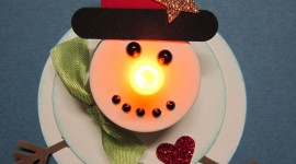 Candle Snowman Wallpaper For Android#2