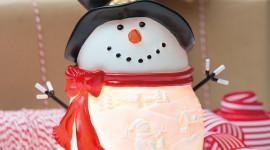 Candle Snowman Wallpaper For Desktop