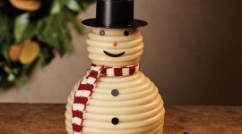 Candle Snowman Wallpaper Free