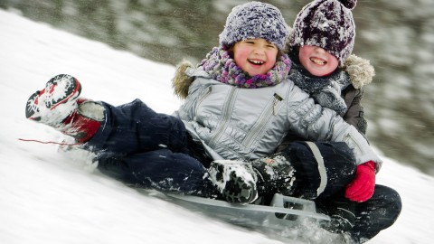 Children On A Sled wallpapers high quality