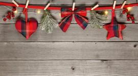 Christmas Bows Wallpaper