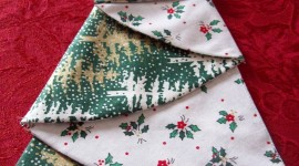 Christmas Napkins Wallpaper For IPhone