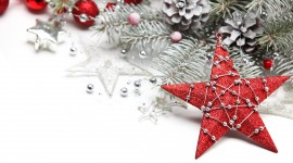 Christmas Star On Tree Photo Free