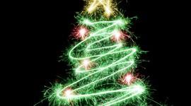 Christmas Star On Tree Wallpaper For Mobile#1