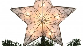 Christmas Star On Tree Wallpaper For PC