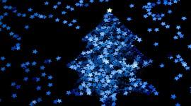 Christmas Star On Tree Wallpaper Free