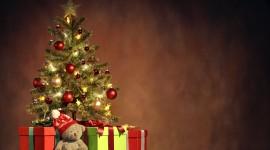 Christmas Star On Tree Wallpaper Full HD