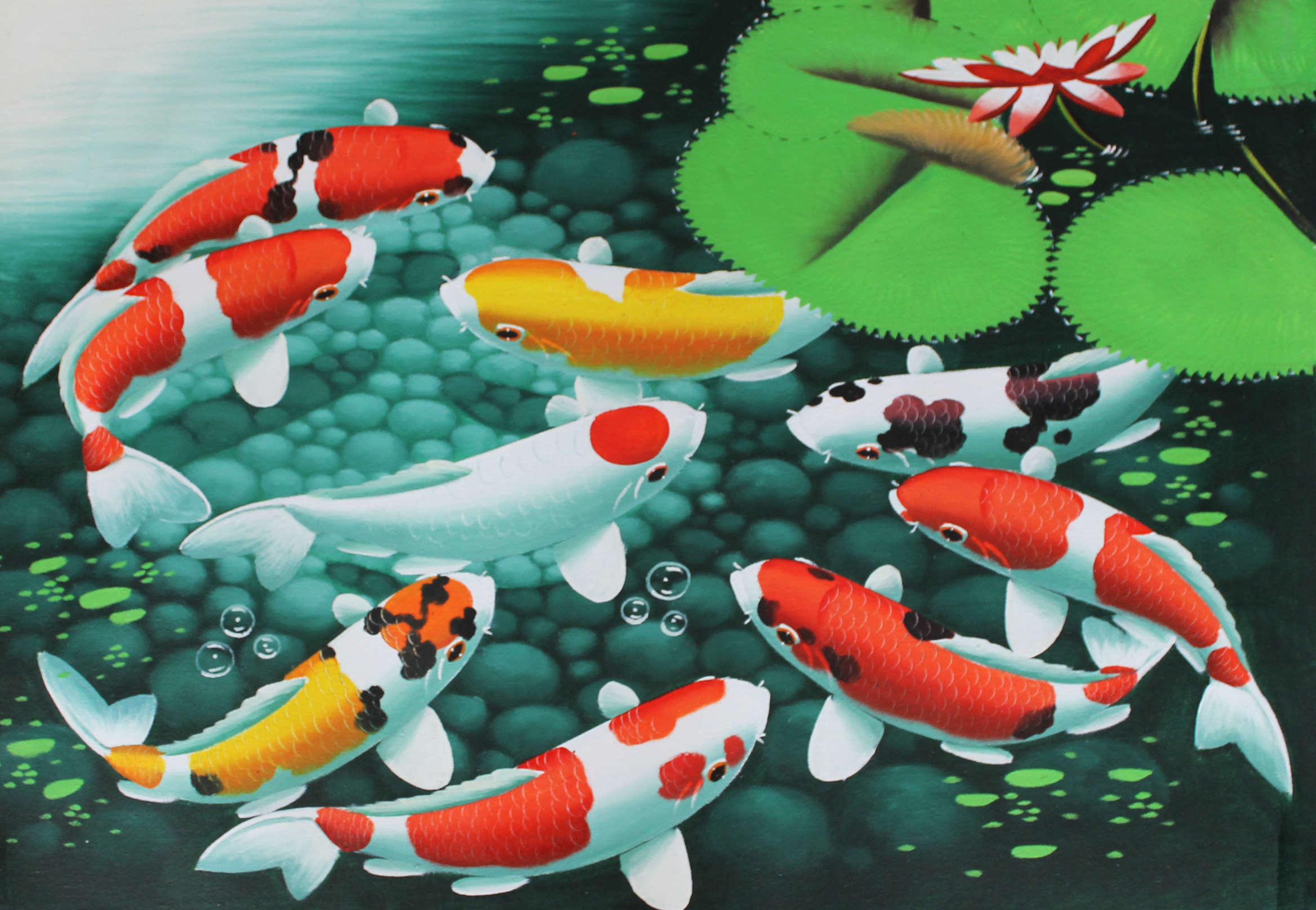Fishes watercolor wallpapers high quality download free - Carp wallpaper iphone ...