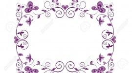 Floral Frame Desktop Wallpaper For PC