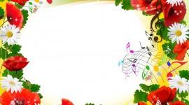 Floral Frame Wallpaper