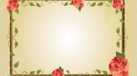 Floral Frame Wallpaper For PC