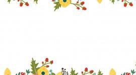 Floral Frame Wallpaper Full HD