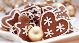 Gingerbread Cookie Wallpaper Background