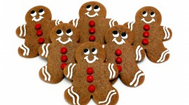 Gingerbread Cookie Wallpaper Full HD