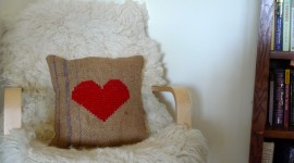 Heart Pillow Desktop Wallpaper For PC