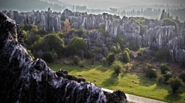 Karst Forest Shilin In China Wallpaper 1080p