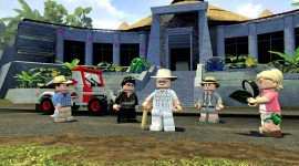 Lego Jurassic World Desktop Wallpaper