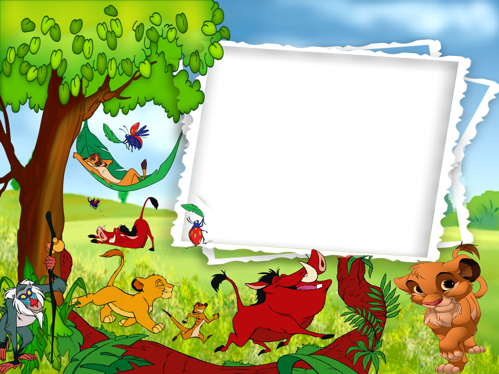 Pumba And Timon Transparen Kids Png Photo Frame: Lion Frames Wallpapers High Quality