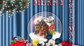 Mickey Mouse And Christmas Aircraft Picture