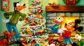 Mickey Mouse And Christmas Image