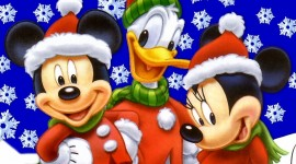 Mickey Mouse And Christmas Photo