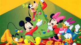 Mickey Mouse And Christmas Wallpaper Full HD