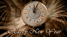 New Year Clock Desktop Wallpaper