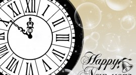 New Year Clock Desktop Wallpaper HD