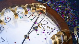 New Year Clock Photo Free