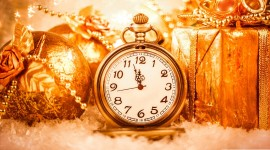 New Year Clock Wallpaper