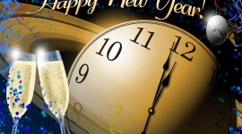 New Year Clock Wallpaper Free