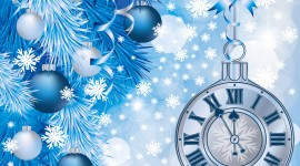 New Year Clock Wallpaper Full HD