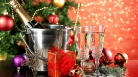 New Year's Glasses Wallpaper Download