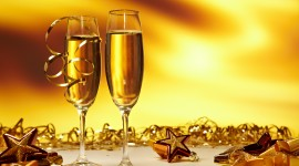 New Year's Glasses Wallpaper Free