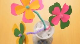 Paper Flowers Desktop Wallpaper HD