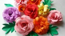 Paper Flowers Wallpaper Download Free
