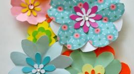 Paper Flowers Wallpaper For Mobile