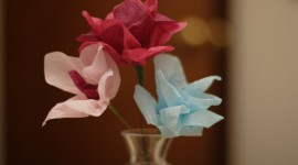 Paper Flowers Wallpaper For PC