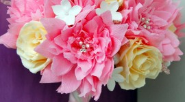 Paper Wedding Bouquets For IPhone#1