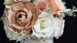 Paper Wedding Bouquets For IPhone#2